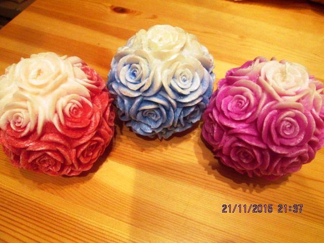 Svíčka - růže